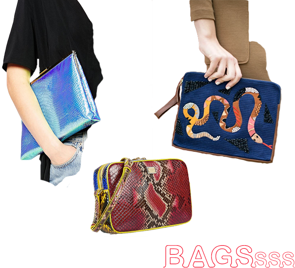 Serpent Day, bags, cause and yvette