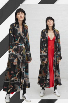 OFF-WHITE Birds Print Pyjama Robe, cause and yvette
