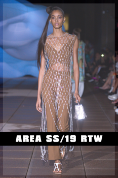 SS19, Area Netted Maxi Dress, Vogue Runway, cause and yvette