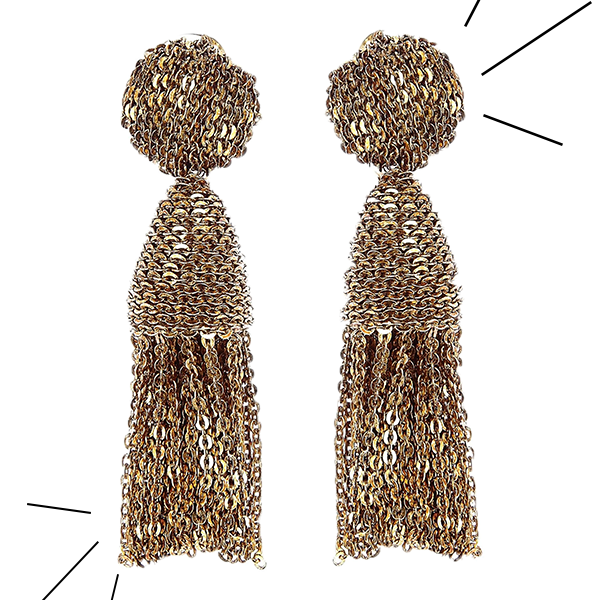 OOTD, Tuesday, gold statement earrings, Oscar de la Renta, cause and yvette