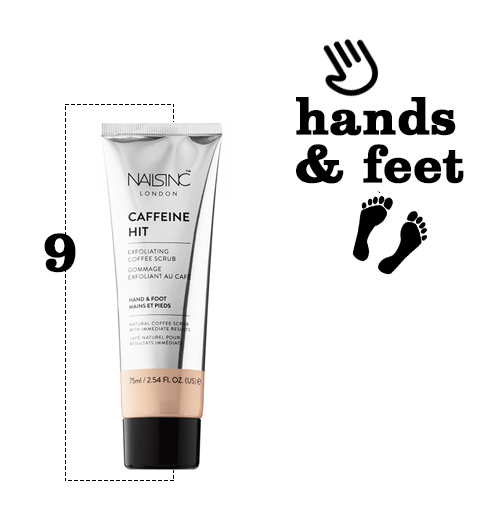 caffeine beauty products, hands and feet, cause and yette