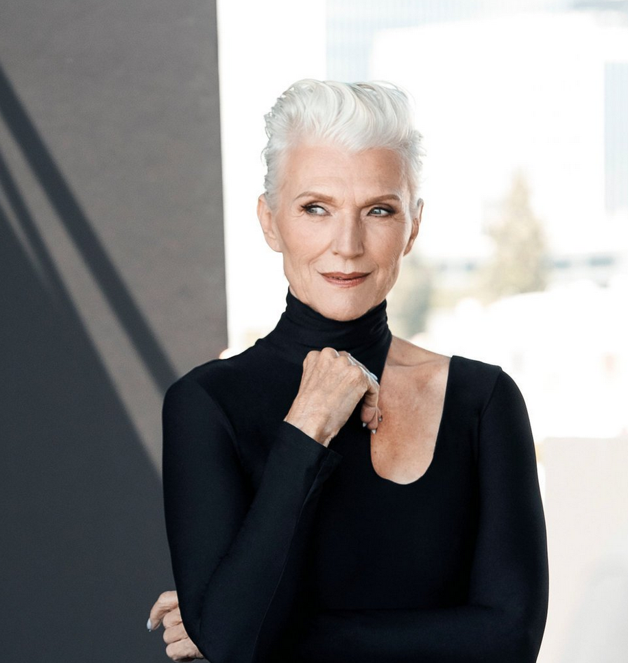 Maye Musk, IMG Models, cause and yvette