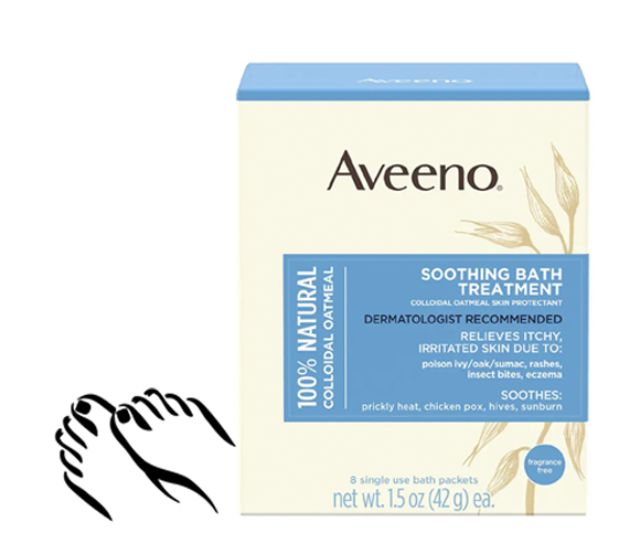 cause and yvette, Fall Pampered Feet, Aveeno Soothing Bath Oatmeal Treatment